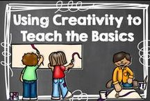 Creativity to Teach the Basics / I love using art and music in my classroom to help my kids connect to their learning. / by Hilary Lewis - Rockin' Teacher Materials