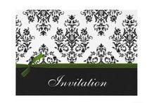 Green Wedding Invitation Sets / Lovely Green wedding invitations, Green save the date, Green stationery, #Green #Greenwedding #weddings #invitations #savethedate