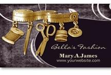 Fashion Business Cards / fashion business cards for a fashion boutique or  seamstress or a dressmaker #fashion