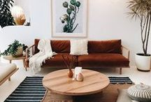 Living Room Design and Styling / Living spaces, lounges, relax, family area, television, sofa, couch, coffee table, side table, lamps, living room