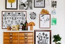 Art Inspiration and How to Style Art / Different expressions of art, paintings, drawings, charcoal, lino, sketches, portraits and how to style art in your home and make your own DIY wall art