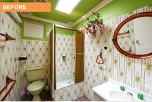 Renovation - Before & After Photos - Blacktown, NSW / Cherie Barber transforms a dated 1970's bathroom on a budget of just $2,500 for Network Ten's lifestyle program 'The Living Room'  See more exciting projects at http://www.renovatingforprofit.com.au/