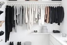 Wardrobe Design and Styling / How to style your wardrobes, closets, dressing rooms including storage, clothing, drawers, shelves, cupboards and hanging space