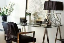 Home Office Design and Styling / How to design and style your home office, study and work spaces. Great ideas on organisation, storage for your work from home space area.