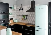 Kitchen Design and Styling / Beautiful and inspiring kitchens, kitchenettes, counter, taps, faucets, sinks, fridges, freezers, stoves, back splashes and appliances