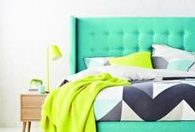Bedroom Design and Styling / Inspiration for areas where we sleep and rest and dream..... Ideas on how to style your bedrooms, sanctuary, bed linen, bedside tables, lamps, headboards