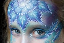 Frozen Face Painting / For ideas to face paint with the Frozen theme