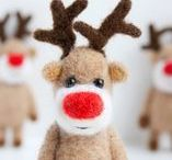 Christmas Reindeer / I just love all the reindeer, and had pinned so many in my Christmas board that I decided to make one just for them. On dasher, on dancer........
