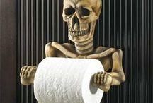 Creepy Bathrooms - The Bathroom Blog / Fun, yet creepy ideas for ways to decorate The Bathroom for Halloween