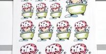 """Planner Girl Deco / Hand drawn """"planner girl"""" stickers"""