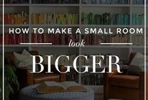 Small Space Living and Styling / How to style and decorate your small home and room, apartment or house with ideas for multi functional spaces and fitting in storage