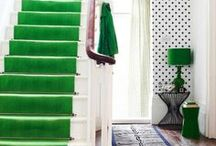 Styling Your Home with Green / Inspiration for green interior styling and some exterior areas