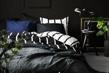 Dark Rooms Design and Styling / Inspiration on how to style and decorate a dark room, Includes moody, masculine, bold and black rooms