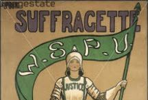 s i s t e r . suffragette / Famous & infamous female suffragettes, voting posters, anti-suffragette items. Mainly from the US and UK. Herstory! / by Jodi B. Loves Books