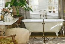 Bathroom Blitz / There's nothing better than a relaxing, aromatic bath to soak away your cares ... and when it's a beautiful bathroom, it's even better