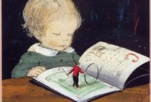 Artful Booklovers / Many artists draw readers - humans, animals ... they're all so charming