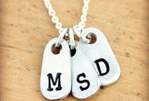 Personalized Initial Necklaces / A personalized initial necklace makes a great everyday necklace! Wear your own initial or make a Mother's necklace with all your childrens' initials.