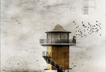 Artful Architecture / Drawings and paintings of buldings