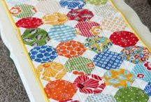Quilted small quilts / toppers / by Laurie Lauricella