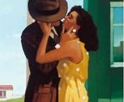 Artist - Jack Vettriano / Scottish artist - Born in Fife, Scotland in 1951, Jack Vettriano left school at sixteen to become a mining engineer. For his twenty-first birthday, a girlfriend gave him a set of watercolour paints and, from then on, he spent much of his spare time teaching himself to paint.