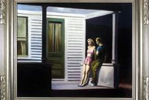 Artist - Edward Hopper / Edward Hopper (July 22, 1882 – May 15, 1967) was a prominent American realist painter and printmaker. While he was most popularly known for his oil paintings, he was equally proficient as a watercolorist and printmaker in etching. Both in his urban and rural scenes, his spare and finely calculated renderings reflected his personal vision of modern American life.