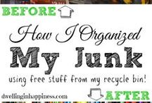 Easy Home Organization / Time saving tips for organizing your home and life!