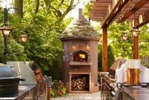 Outdoor Room / Beautiful furniture, outdoor lighting, firepits, outdoor kitchens, all make for a lovely outdoor room