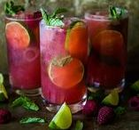 Refreshing Natural Drinks / Ingredients from your garden in refreshing drinks for the sum-sum-summertime.
