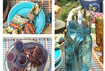 Summer Cookout Party / Planning tips, summer table decor, and easy side dishes for your next Summer Cookout Party!
