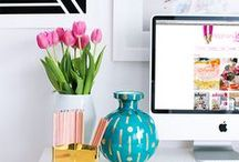 Workspace / Styling ideas for your workspace or studio. Join me on the blog for more ideas & inspiration, www.29andSeptember.com