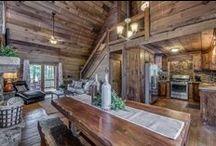 Rustic Cabin Decor / Rustic, upscale cabin decor ideas.
