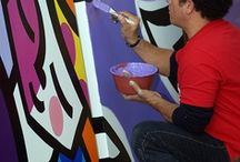 Obras de Romero Brito / Obras e reeleituras do pintor brasileiro Romero Brito / by Glória Luz