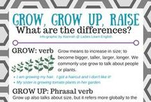 Grammar Made Easy / This is a collection of Ladies Learn English info-graphics, etc.