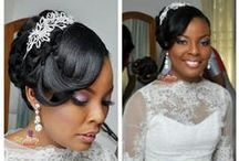 Nigerian Wedding Hairstyles / This board is dedicated to the Nigerian or black bride who need inspiration & ideas for their wedding hair. This board is packed with different romantic hairstyles to suit different skin tones and face!