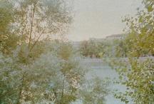 VERONA - Luci di albe e tramonti / «Le fotografie si fanno con i piedi». Si fanno misurando lo spazio con passi lenti prima di piantare il cavalletto, e poi aspettando con pazienza, con sguardo lento, che la pancia della macchina, obbediente, rumini e digerisca l'immagine.  Gabriele Basilico. Fotografie all'alba e al tramonto - Verona (Italy) e dintorni -  Citazioni da Angelo Dall'Oca Bianca, Luigi Ghirri