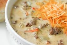 Main Dish: Soups & Salads / for those cold rainy days / by Jessica McAllister