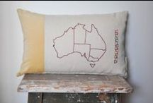 Pinch River :: hand embroidered cushions