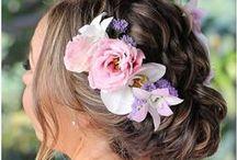 Flower Hair Styles & Designs / Flower hair styles and designs using real fresh flowers.