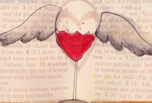 What my Wine says to me© / What my Wine says to me© happens when I drink wine. After all beverages in use usually speak to me. So these wine infused illustrations are more sporadic. The are original and are the intellectual and creative property of Jennifer R. Cook© - Cats in the Bag design©