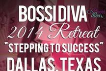 "Bossi Divas / Bossi Divas was founded by Kiwona Maull, owner of Beautiful Diva Hair and Kimberly Howard, owner of Bossi Graphix.  The mission is to promote and encourage businesswomen to reach their fullest potential. Bossi Divas is an online community of professional and entrepreneurial women who support each other through conversation, online and event-based networking. ""Even you can be a Bossi Diva."""