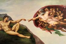 Art: Michelangelo / The most famous paintings OF the great Michelangelo Buonarroti (1475 - 1564) Italian painter and sculptur