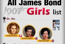 """Bond Girls - 007 / The amazing co-starving with the world""""s most famous secret Agent : jJames Bond"""