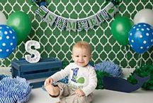 CAKE SMASH IDEAS for baby boy / My favorite ideas for baby boy's 1st birthday cake smash.