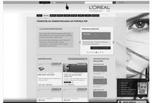 Wireframing intranet L'Oreal / Conception d'interface, design d'information et wireframing de portails intranet pour L'Oreal