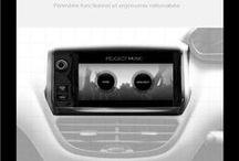 UX design - Peugeot Music / Interface embarquée dans l'ordinateur de bord des véhicules PEUGEOT, permettant d'écouter sa musique en voiture... UX design d'expérience utilisateur par iafactory...