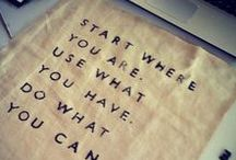 Inspiration / Inspirational words and products for everyday life