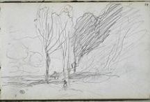 Corot drawings and etchings