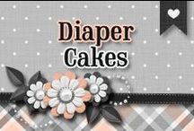 » Diaper Cakes / Creative Diaper Cakes For Baby Showers ♥