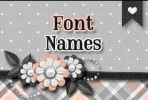 » Font Names / Different Font Names ♥ I Love All Of Them I Use Them On My Everyday Life ^_^