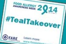 #TealTakeOver for Food Allergy Awareness / Food Allergy Awareness, Teal Take Over! Raise awareness by wearing TEAL!